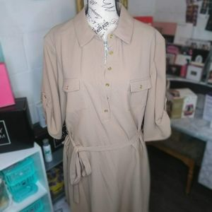 Women's front button trench dress